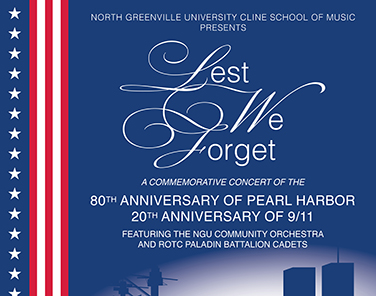 NGU Cline School of Music to present 'Lest We Forget' concert